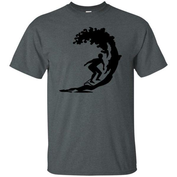 Surfing t shirt - dark heather