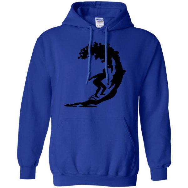 Surfing hoodie - royal blue