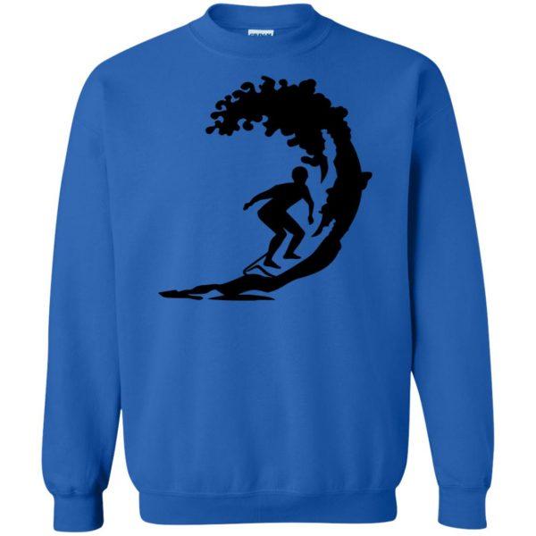 Surfing sweatshirt - royal blue