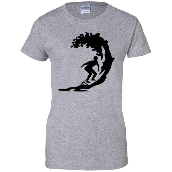 Surfing womens t shirt - lady t shirt - sport grey