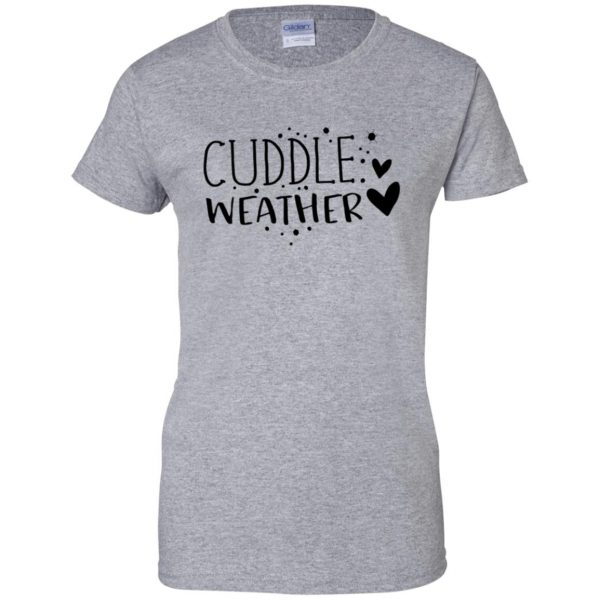 cuddle womens t shirt - lady t shirt - sport grey