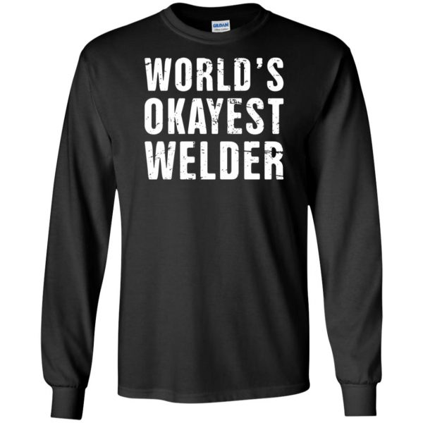 Funny Welding Quote long sleeve - black