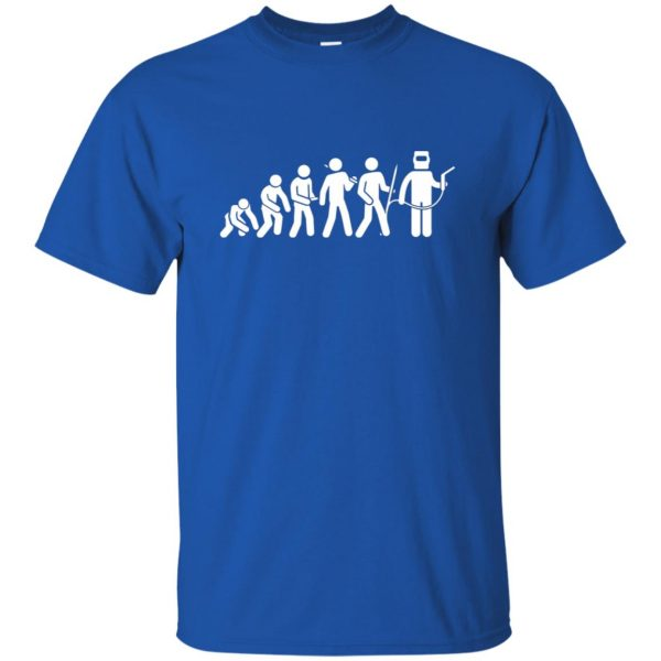 Evolution Of A Welder t shirt - royal blue