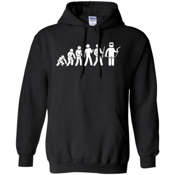 Evolution Of A Welder hoodie - black