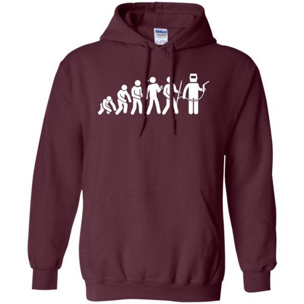 Evolution Of A Welder hoodie - maroon