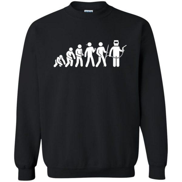 Evolution Of A Welder sweatshirt - black