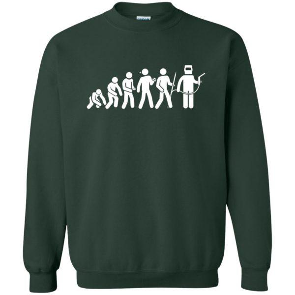 Evolution Of A Welder sweatshirt - forest green