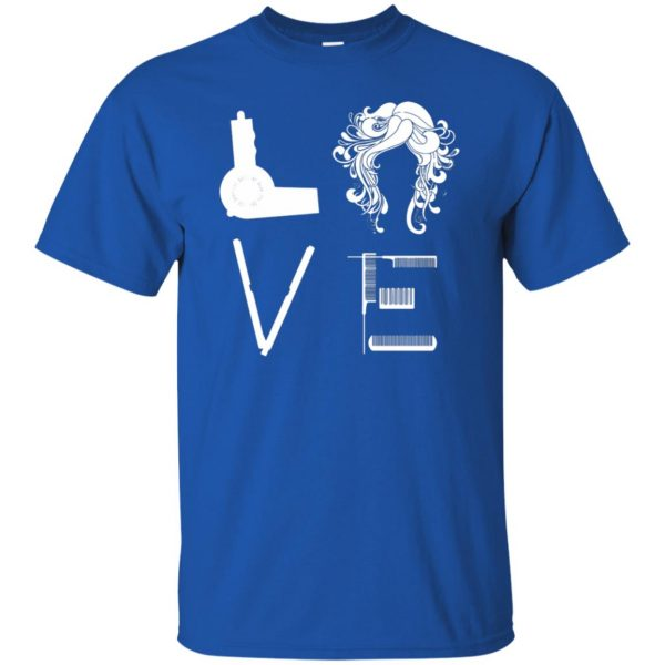 I Love Hairstylist t shirt - royal blue