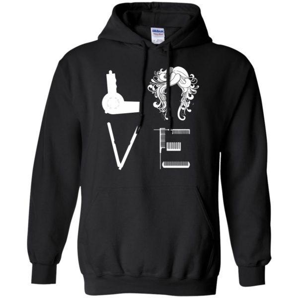 I Love Hairstylist hoodie - black