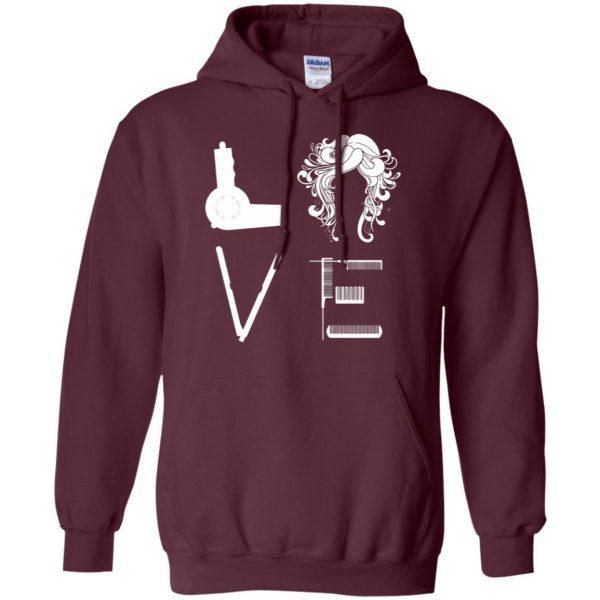 I Love Hairstylist hoodie - maroon