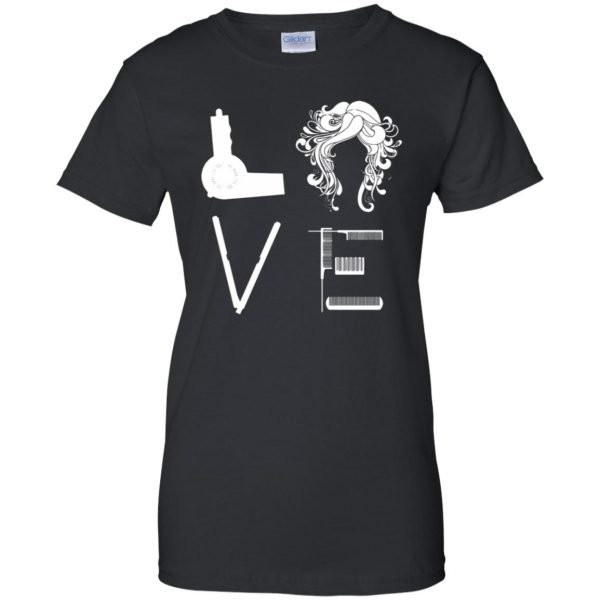 I Love Hairstylist womens t shirt - lady t shirt - black