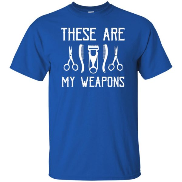 Barber's Weapons t shirt - royal blue