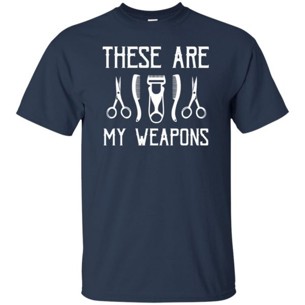 Barber's Weapons t shirt - navy blue