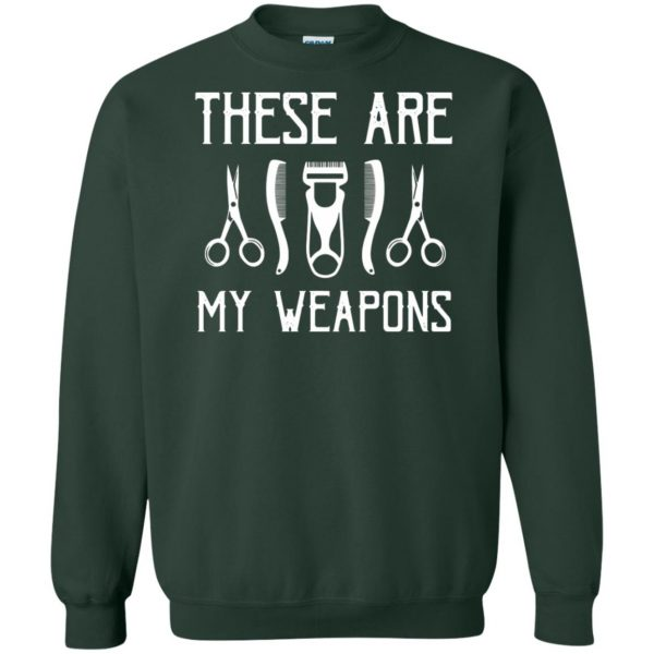 Barber's Weapons sweatshirt - forest green