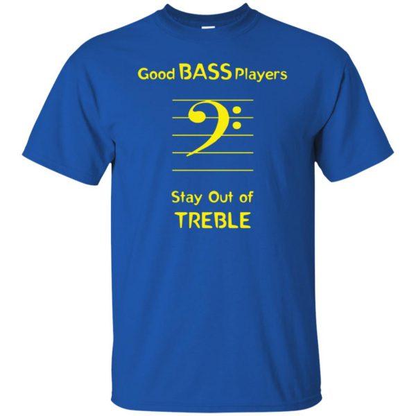 Good Bass Player t shirt - royal blue