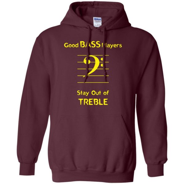 Good Bass Player hoodie - maroon