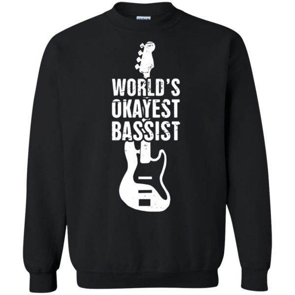 Funny Distressed Bass Guitar Player sweatshirt - black