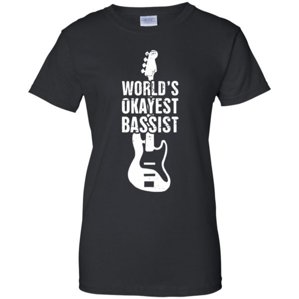 Funny Distressed Bass Guitar Player womens t shirt - lady t shirt - black