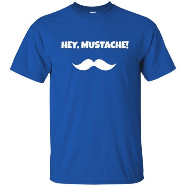 mustache t shirt t shirt - royal blue