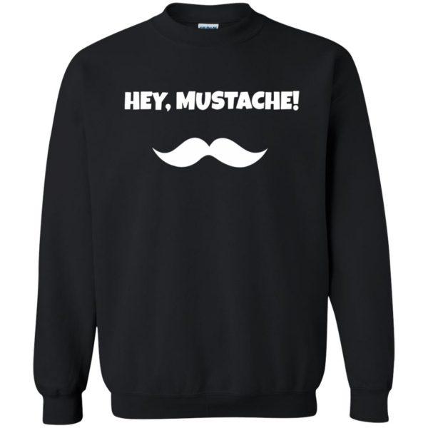 mustache t shirt sweatshirt - black