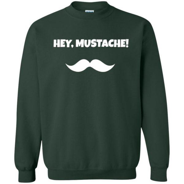 mustache t shirt sweatshirt - forest green