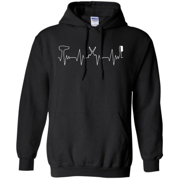 Hair Stylist Heartbeat hoodie - black