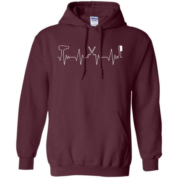 Hair Stylist Heartbeat hoodie - maroon