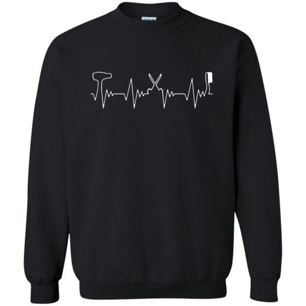 Hair Stylist Heartbeat sweatshirt - black