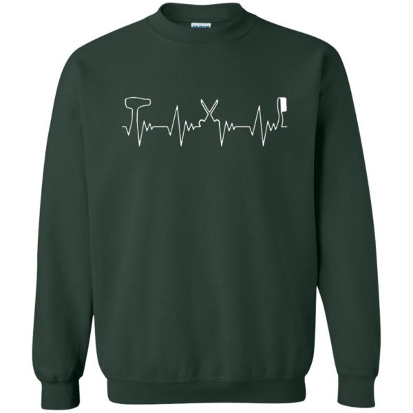 Hair Stylist Heartbeat sweatshirt - forest green