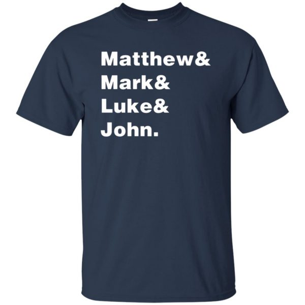 matthew mark luke john t shirt - navy blue