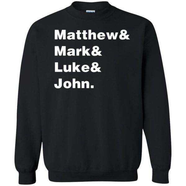 matthew mark luke john sweatshirt - black