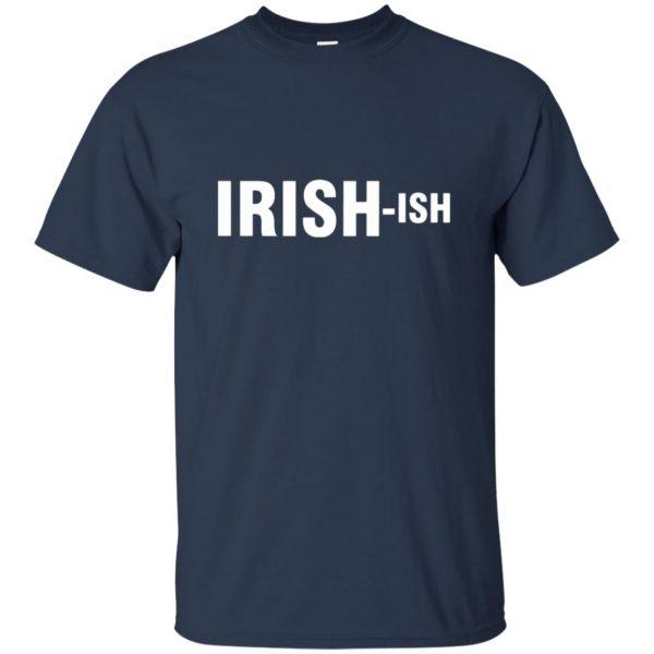 irish ish t shirt - navy blue