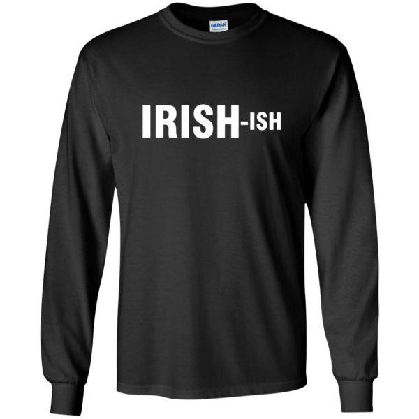 irish ish long sleeve - black