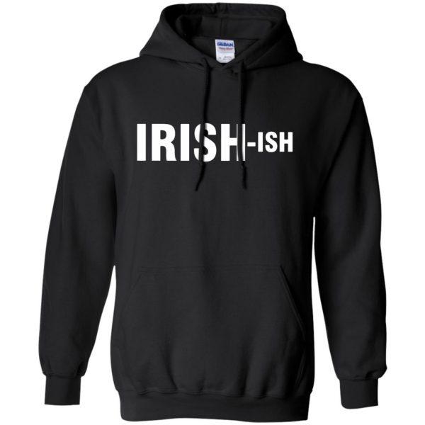irish ish hoodie - black