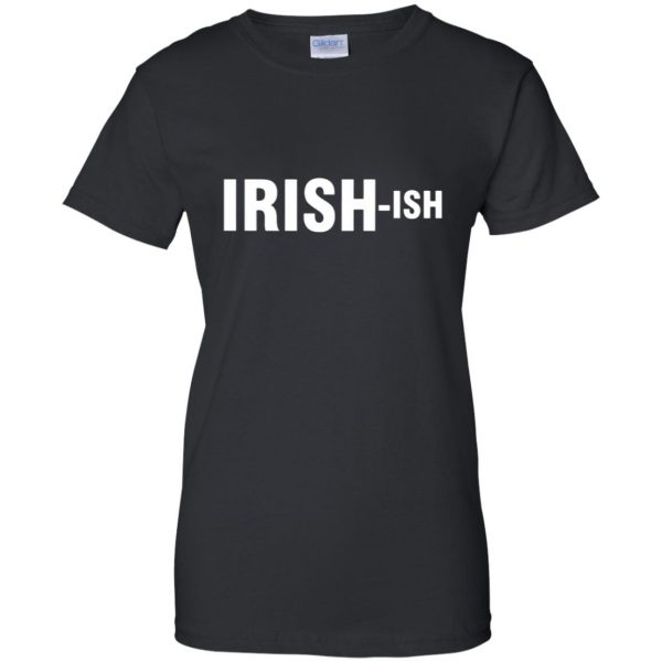 irish ish womens t shirt - lady t shirt - black