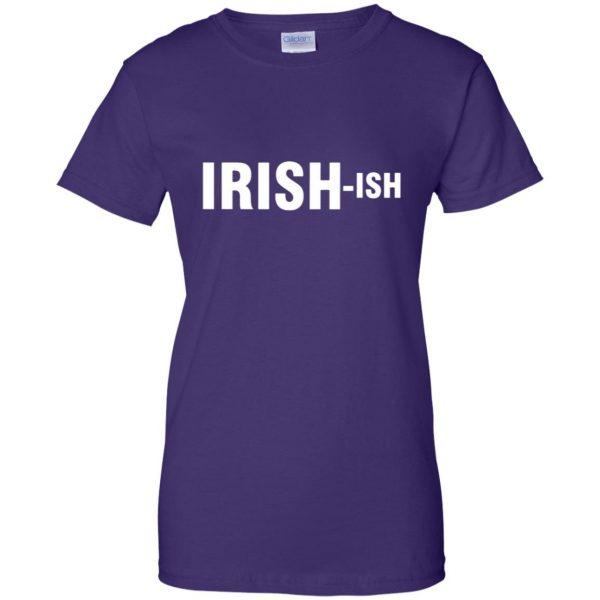 irish ish womens t shirt - lady t shirt - purple