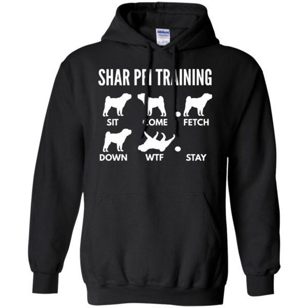 shar pei hoodie - black