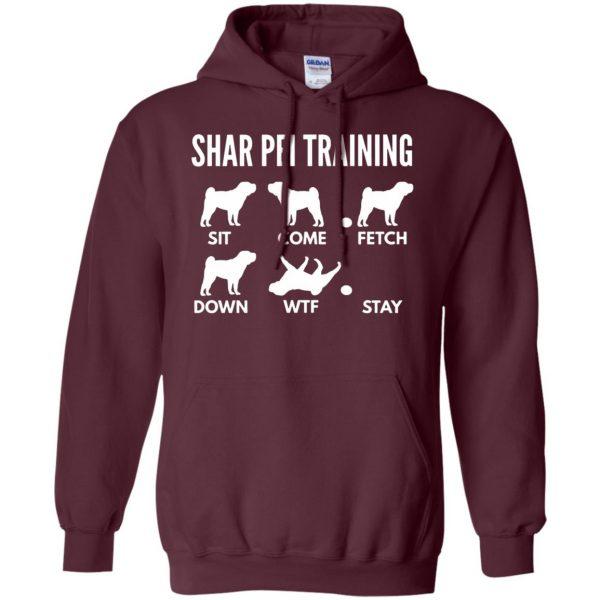 shar pei hoodie - maroon