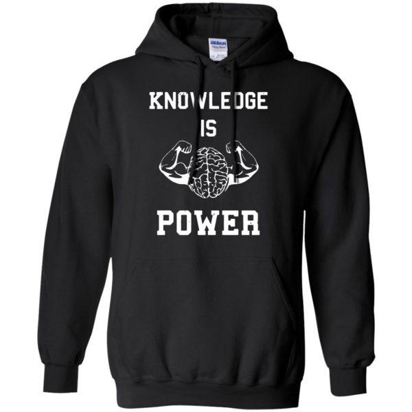 knowledge is power hoodie - black