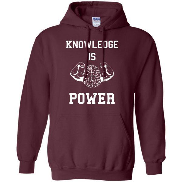 knowledge is power hoodie - maroon