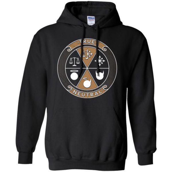 true neutral hoodie - black