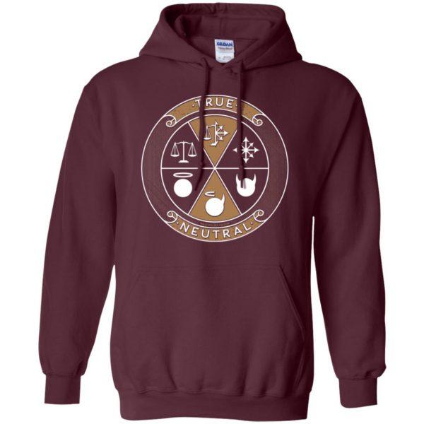 true neutral hoodie - maroon
