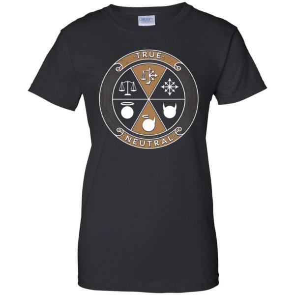 true neutral womens t shirt - lady t shirt - black