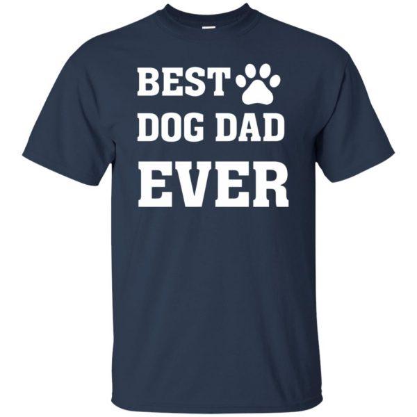 best dog dad t shirt - navy blue
