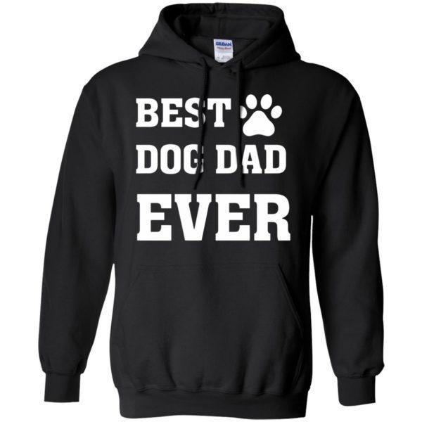 best dog dad hoodie - black
