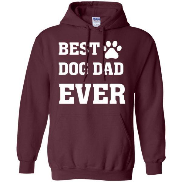 best dog dad hoodie - maroon
