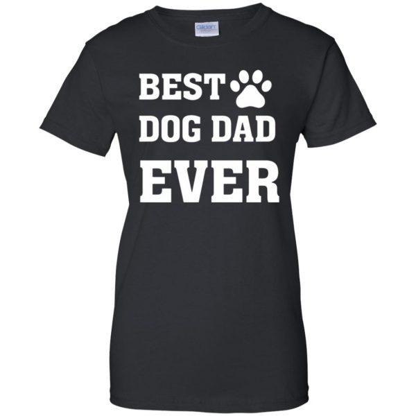 best dog dad womens t shirt - lady t shirt - black